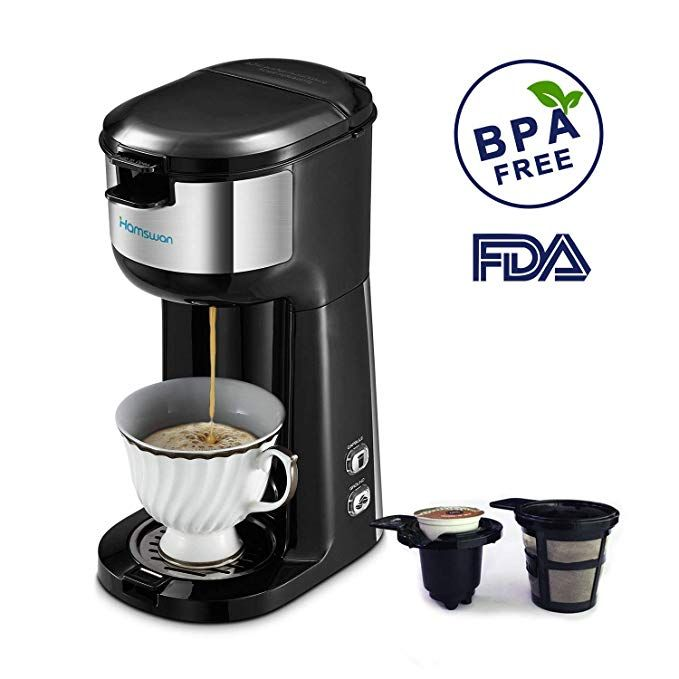 Single Serve Coffee Maker Hamswan K Cup Coffee Maker Ground Coffee And Coffee Capsules 2 Single Serve Coffee Makers K Cup Coffee Maker Single Cup Coffee Maker