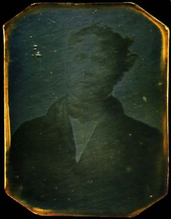 "Portrait of ""M. Huet."" that is claimed to be a test photograph taken by Louis Daguerre in 1837, which would make it the earliest surviving photograph of a person. [338x432] - Imgur"