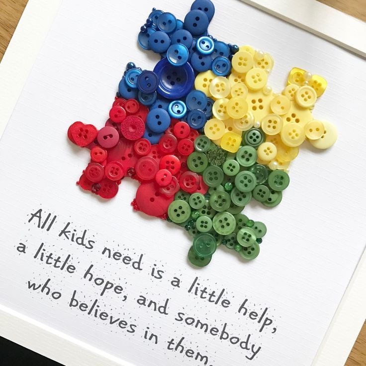 Puzzle pieces making a lovely thank you gift for a special teacher. Nic x