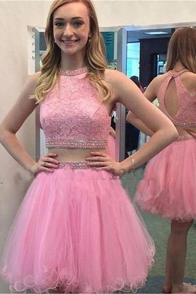 Two Pieces Classy Homecoming Dress,Sexy Party Dress,Charming Homecoming…