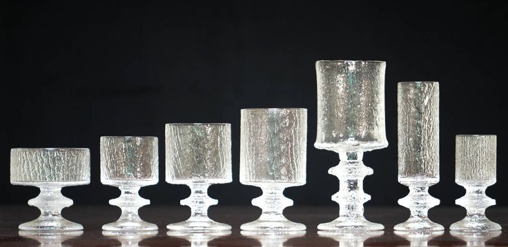Timo Sarpaneva Very Rare Set of 84 Senator Glasses for 12, Iittala | From a unique collection of antique and modern glass at https://www.1stdibs.com/furniture/dining-entertaining/glass/