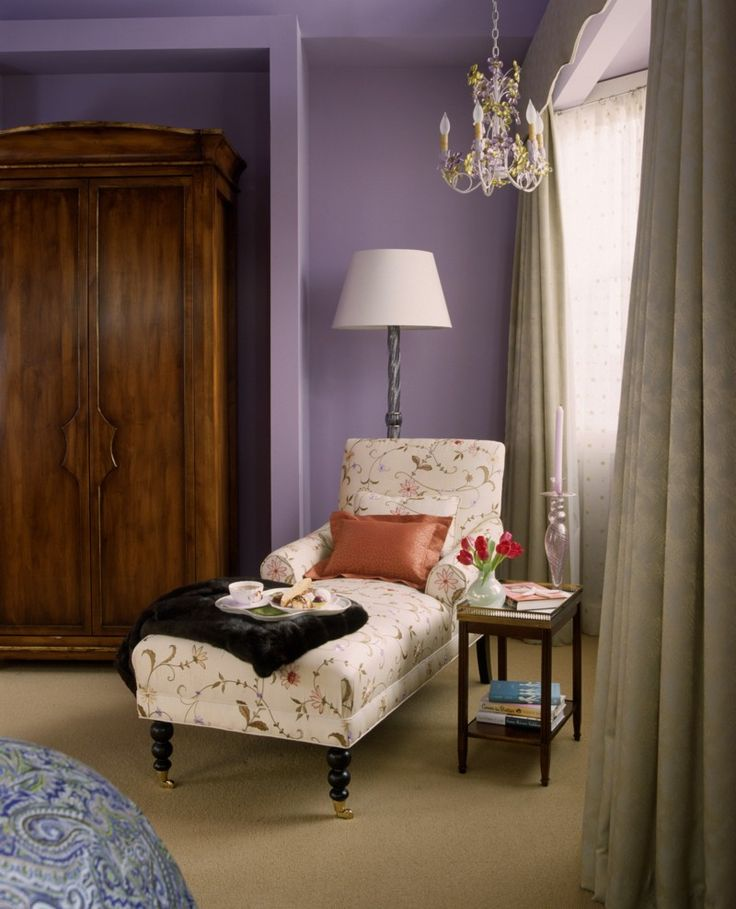 a romantic reading nook with chaise