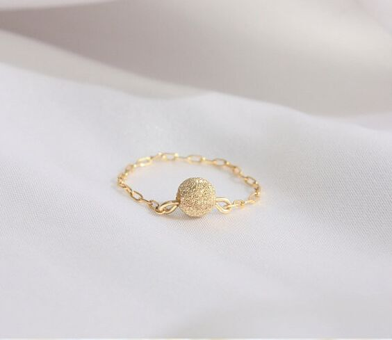 Find More Rings Information about Delicate chain ring   dainty ring,14k gold filled chain with a tiny sandblasted gold ball,gold filled ring, everyday, simple,High Quality chain breaker riveting tool,China chain and bar oil Suppliers, Cheap ring jet from City lovers Liu Yanxia on Aliexpress.com