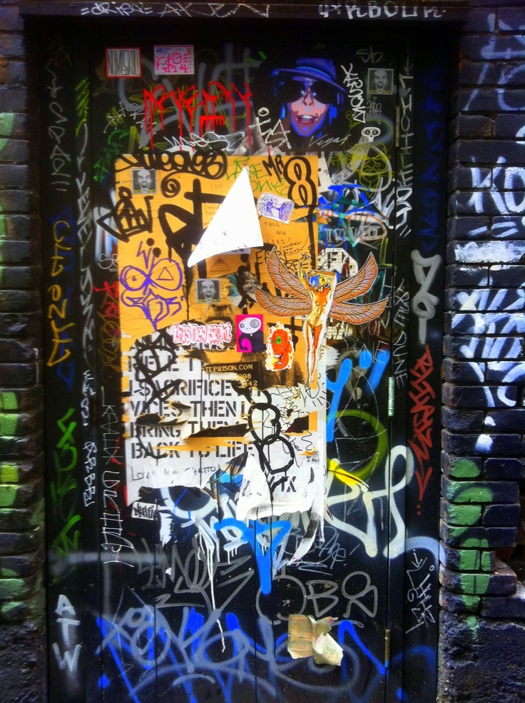Graffiti door. Taken in a downtown Vancouver alley, October 2011.
