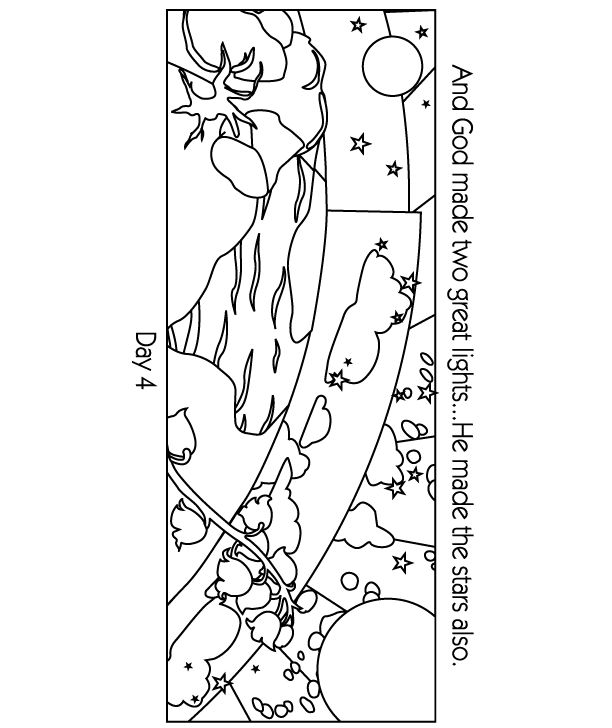creation coloring pages kjv - photo#11