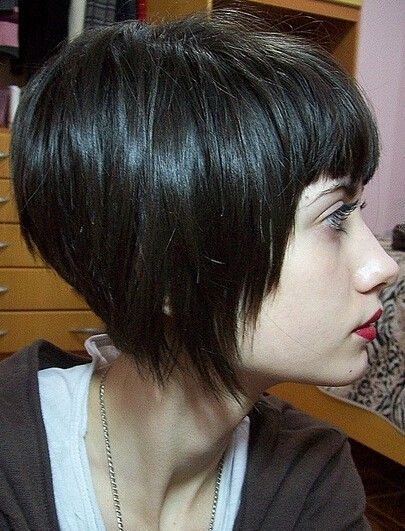 First-rate Chic Short Straight capless synthetic Wig with Bangs
