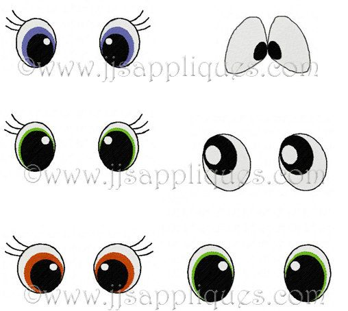 Instant Download Eye Designs - Eyes Embroidery Designs - Lot of 6 Eye Styles for 4x4 hoop 1 inch, 1-1/2 inch, 2 inch designs, 42 designs by jayniejayedesigns on Etsy https://www.etsy.com/listing/128462950/instant-download-eye-designs-eyes