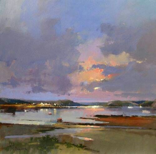 """""""A Break in the Clouds, Plockton"""" by Peter Wileman, contemporary UK artist"""