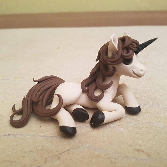 Chocolate Little Pony figurine handmade polymer clay unicorn