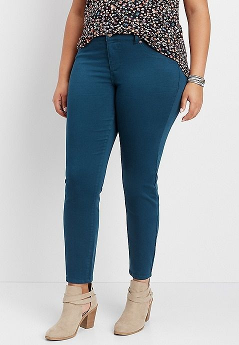 70a00d5a92c2f plus size DenimFlex™ leafy teal color jegging in 2019 | Plus Size ...