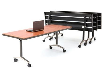 MityLite Reveal Linenless Flip tables available through Schoolhouse Products