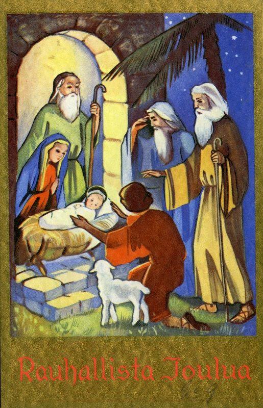 Rauhallista Joulua! #jouluseimi #Christmascards #Nativityscene