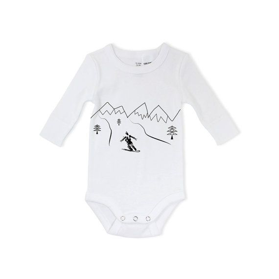 Snowboarding baby extreme sports baby active baby by ARTsyClothing