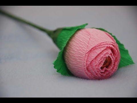Английская роза из конфеты. Мастер-класс. DIY rose made of candy and paper - YouTube