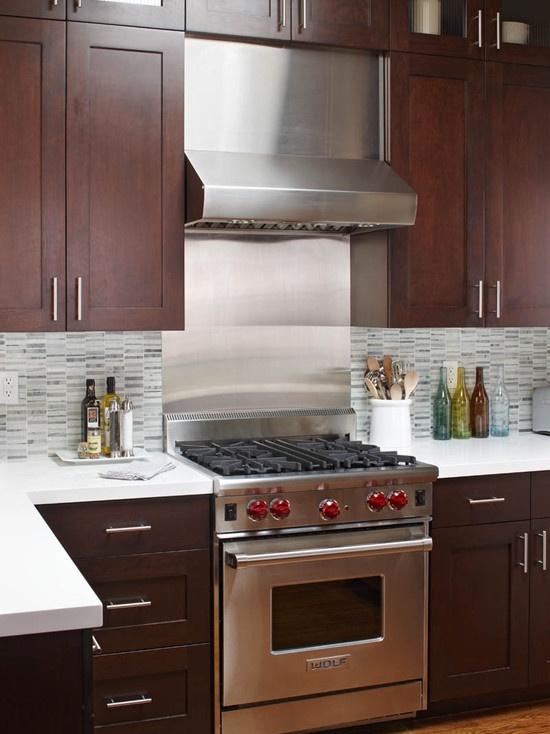 Kitchen Backsplash For Dark Cabinets