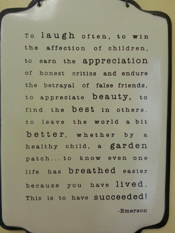 True and beautiful words!
