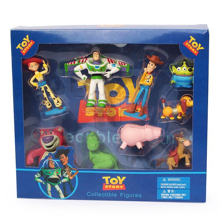 Toy Story Buzz lightyear Woody Jessie PVC Action Figure Toys with box 5-12cm 9pcs/set