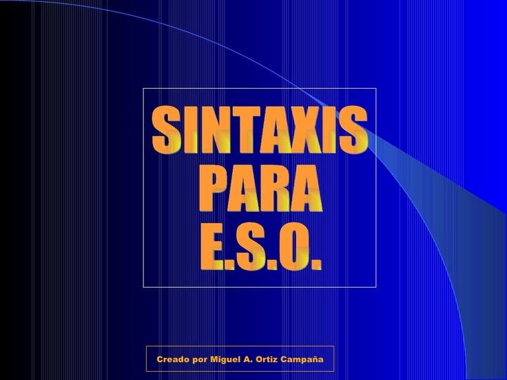 analisis-sintactico by rosermontserrat via Slideshare