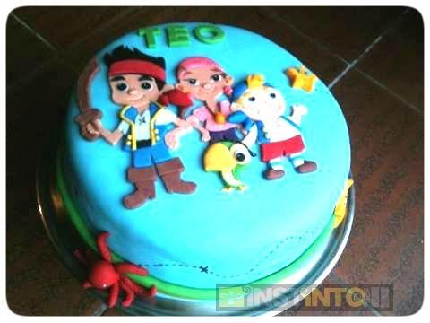 Torta de cumpleaños Los Piratas del Nunca Jamas