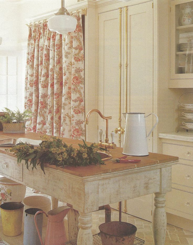 Country French Favorites Pinterest Floral Curtains