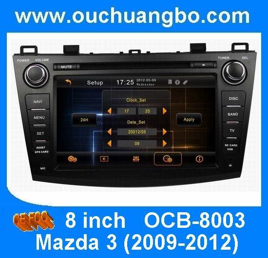 Ouchuangbo Car GPS Navi DVD Audio Player Mazda 3 2009-2012 RDS USB http://www.ouchuangbo.com/en/ProItem.aspx?id=927&classlist=106.127.