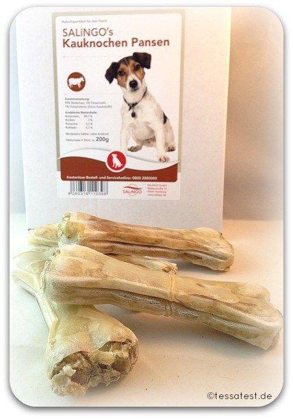 Salingo Hundefutter, Kauknochen Test Bericht Erfahrung