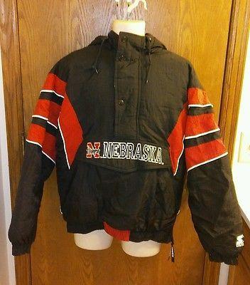 VTG Nebraska Cornhuskers Sideline Parka Starter Jacket 1996 Huskers XL