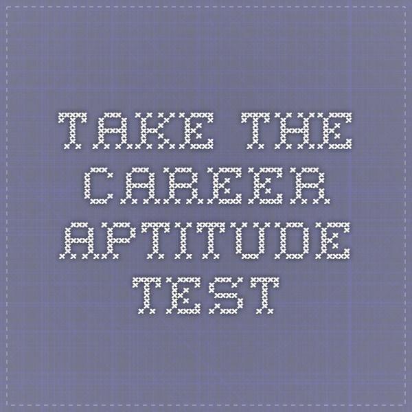 career aptitude