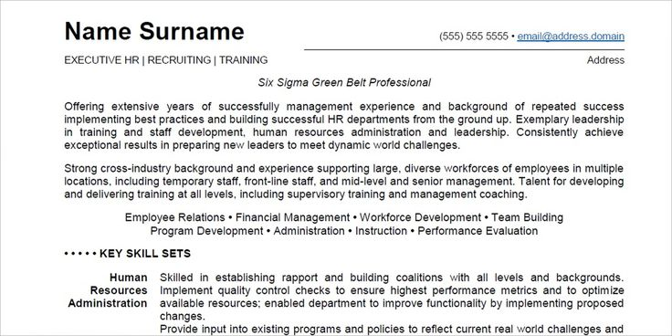 Six Sigma Resume Executive Resume Sample 1St Sample Inadocument  Inadocument .