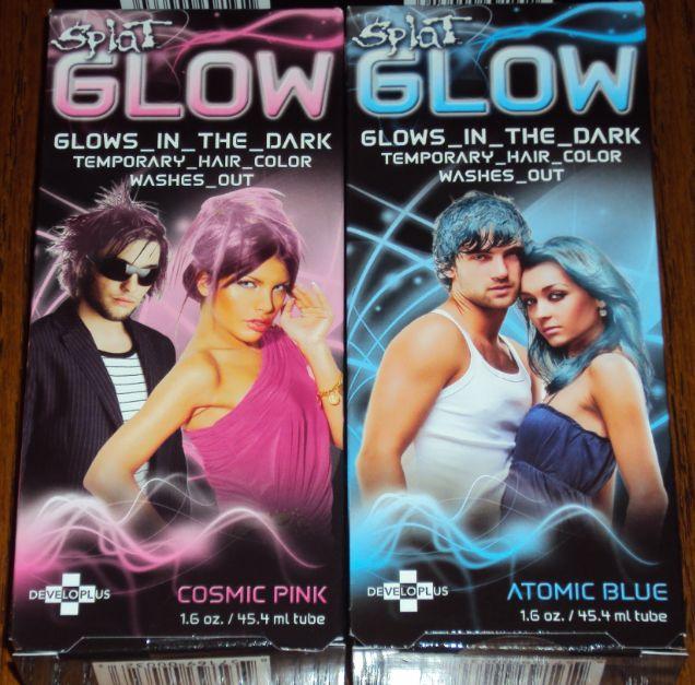Splat Glow In The Dark Temporary Hair Dye Color Gel Cream Purple Rave Dyed