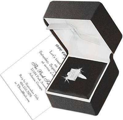 Engagement Ring Die-Cut Invitations