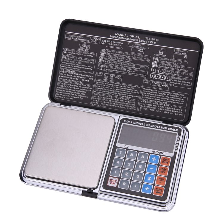 500g x 0.01g Digital Pocket Scale Multifunctional LCD Screen High Precision Kitchen Jewelry  Pocket Scale With Blue Backlight