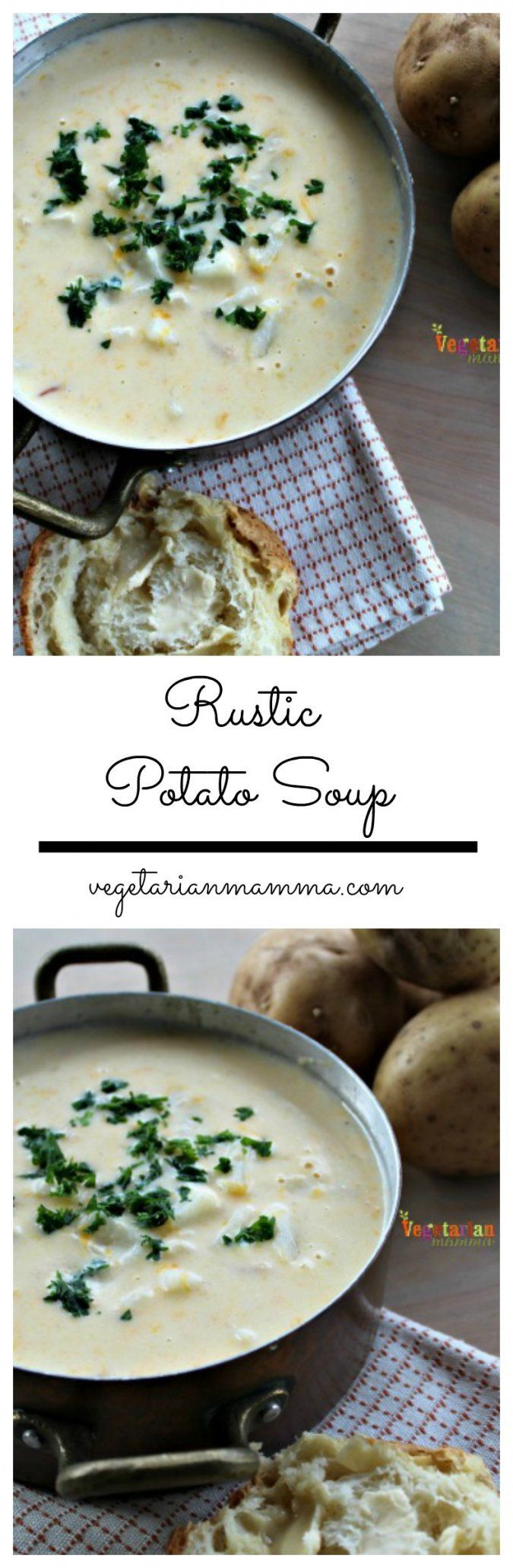 Rustc Potato Soup @vegetarianmamma.com