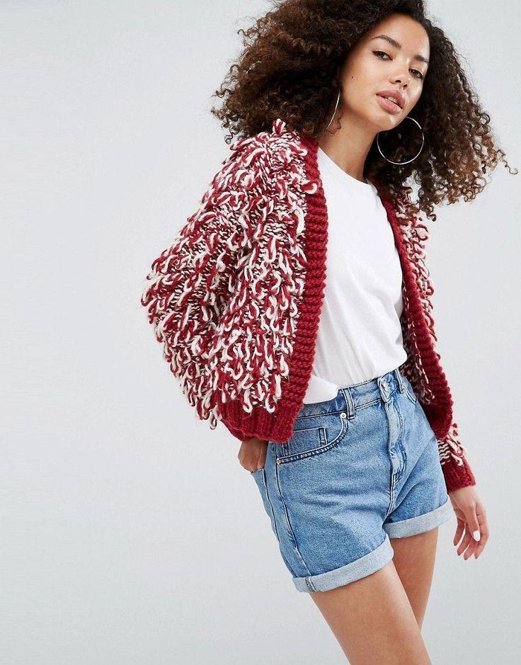 Finishline Sale Online Cheap Sale Best Sale ASOS Oversized Tassle Cardigan Pick A Best Cheap Online qm4Is