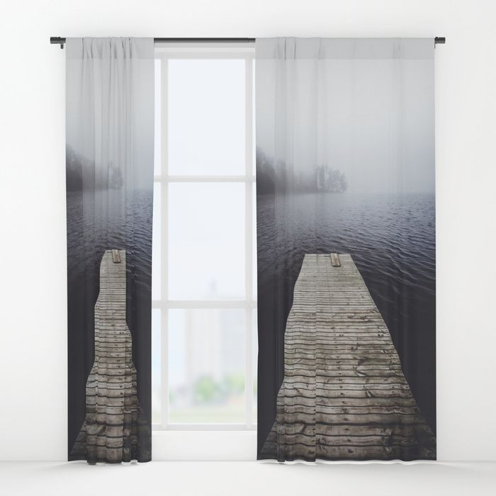 Fading into the mist Window Curtains by happymelvin