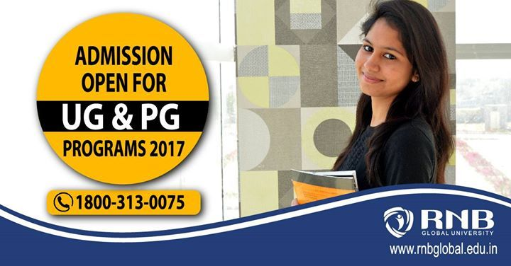 RNB Global University Winner of The Economic Times Award for Best Education Education Brands 2017  Invites Applications for Admissions 2017 at #UG & #PG level for various streams like #Engineering #BusinessStudies #Management #Law #Arts #AppliedSciences  #Media #Computers #Design and #BasicSciences.   Visit: http://ift.tt/2o9CsKV or call 1800-313-0075  #Universityadmissions #admissions2017 #Rajasthan #Undergraduateprograms #PGPrograms