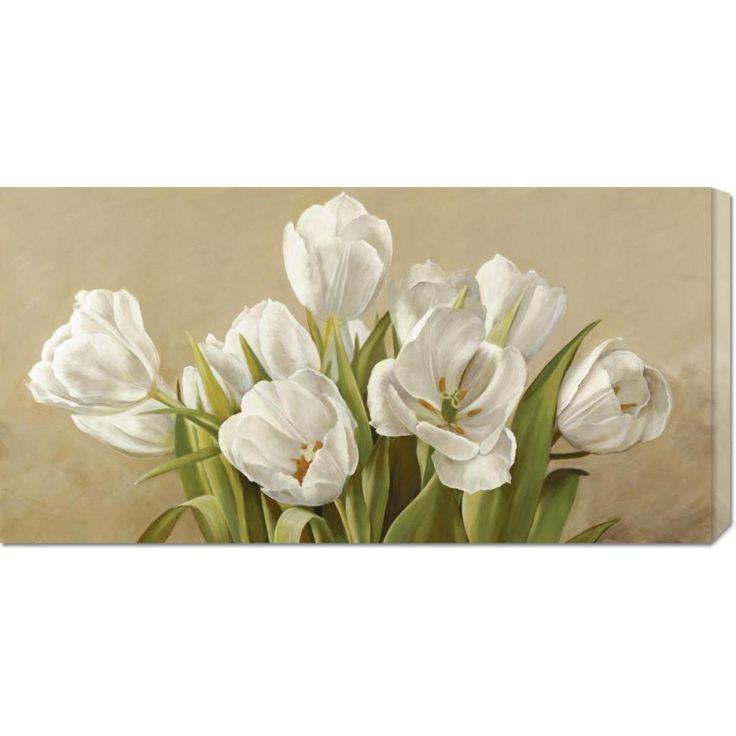 Global Gallery Serena Biffi 'Tulipani bianchi' Stretched