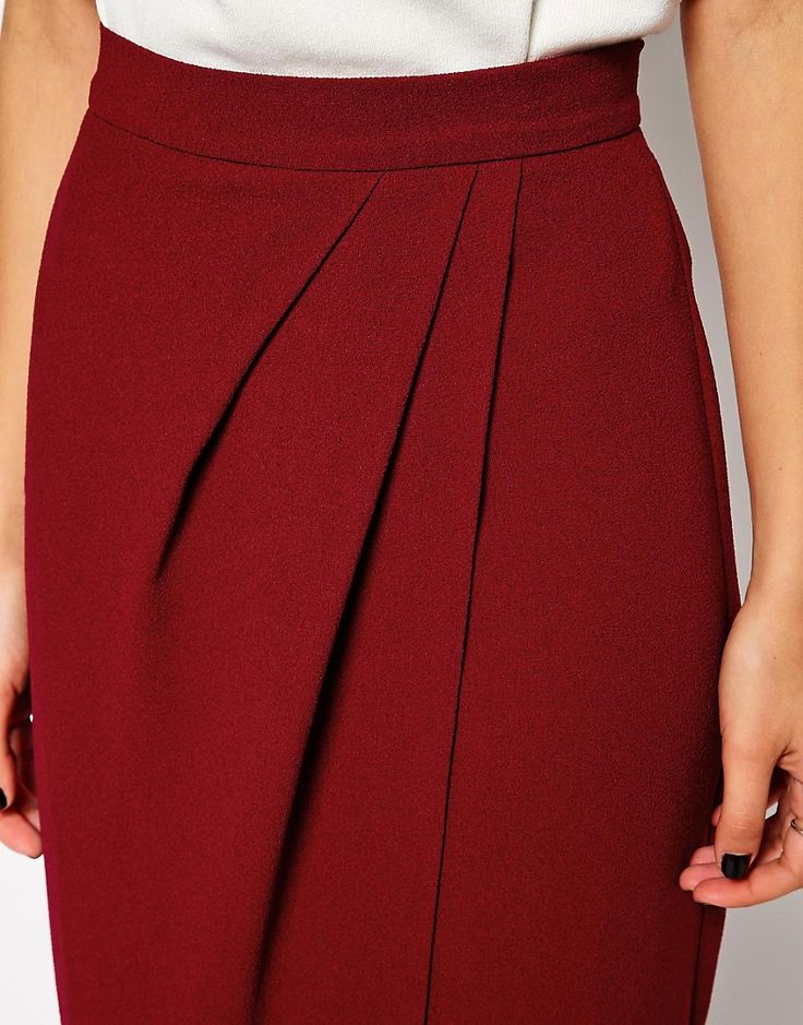 ASOS | ASOS Drape Tulip Pencil Skirt at ASOS