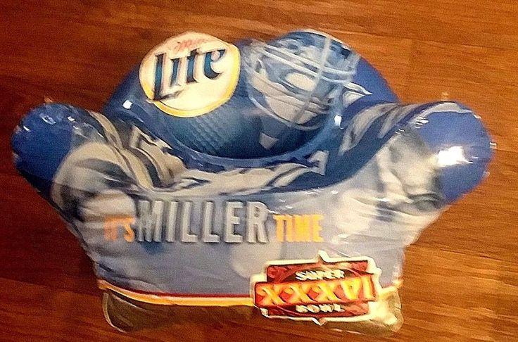 VINTAGE SUPER BOWL XXVI 2001 SMALL BLOW-UP CHAIR #MILLERBEER