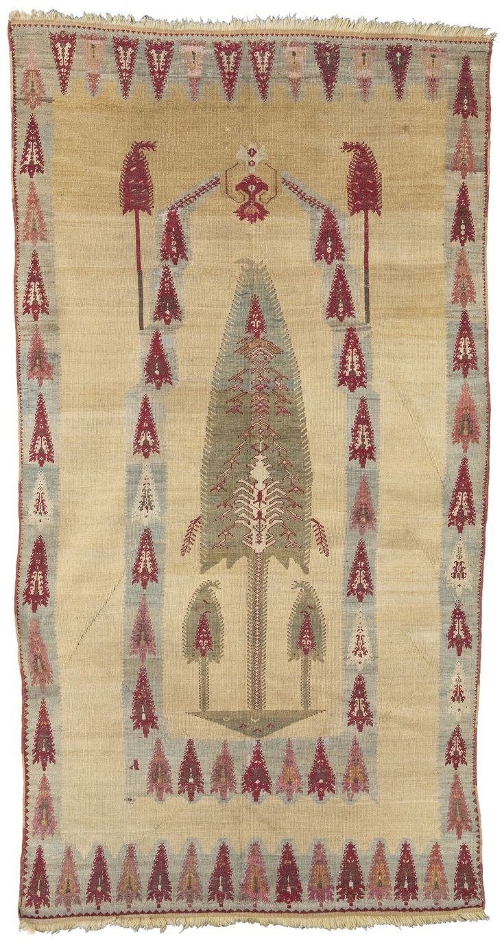 Turkish Kirsehir Prayer Rug Mid 19th Century