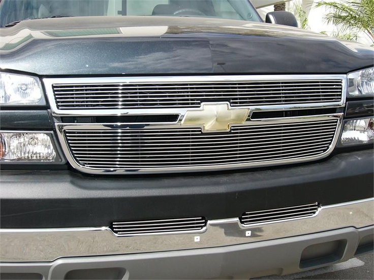2005-2006 Chevrolet Silverado 2500HD, 3500 (All 2006 Models) & 2007 Silverado CLASSIC - Billet Grille Overlay/Bolt On & Insert - 2 PC - 7 ,11 Bars - #chevy #grille #silverado http://www.mkmcustoms.com/2005-2006chevroletsilverado2500hd3500all2006modelsand2007silveradoclassic-billetgrilleoverlayboltonandinsert-2pc-711bars.aspx