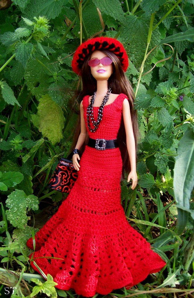 1000 Ideas About Barbie Crochet Gown On Pinterest