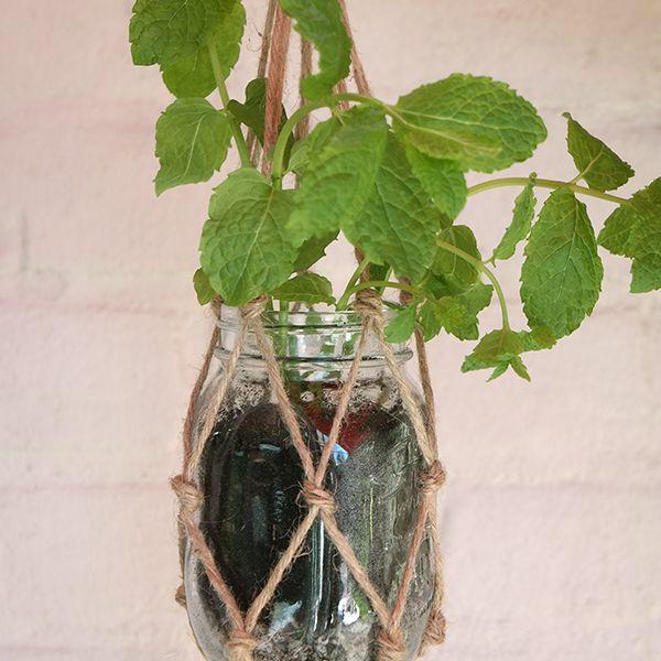 Met slechts een paar benodigdheden heb je deze plantenhanger binnen no time gemaakt!