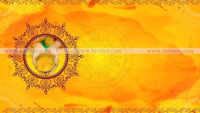 Haldi Ceremony Invitations Video Haldi Ceremony Wedding Invitation Video Indian Wedding Invitations