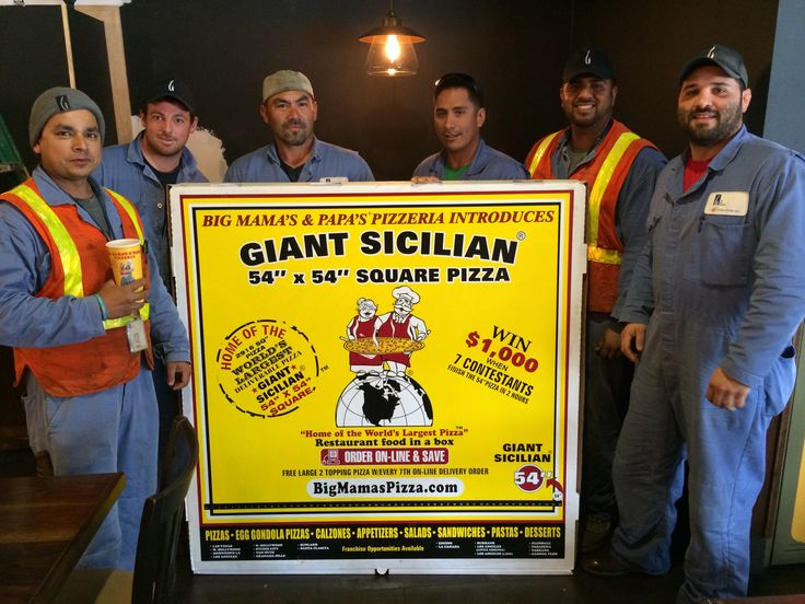 "12/13/14... 54"" x 54"" Giant Sicilian! Definitely enough to feed the whole crew! #BMPP  www.bigmamaspizza.com/#54  #Pizza #Foodie #PizzaParty #Delicious #Eat #Love #Repeat #Hungry #Nom #NomNom #Yummy #BeautifulPizza #PizzaLover #PizzaDelivery #Italian #Lunch #Dinner #PizzaGram #LA #California #YumYum #FoodComa #LosAngeles #Tasty #Delish #GoodEats #InstaFood #InstaPizza #GoodFood"