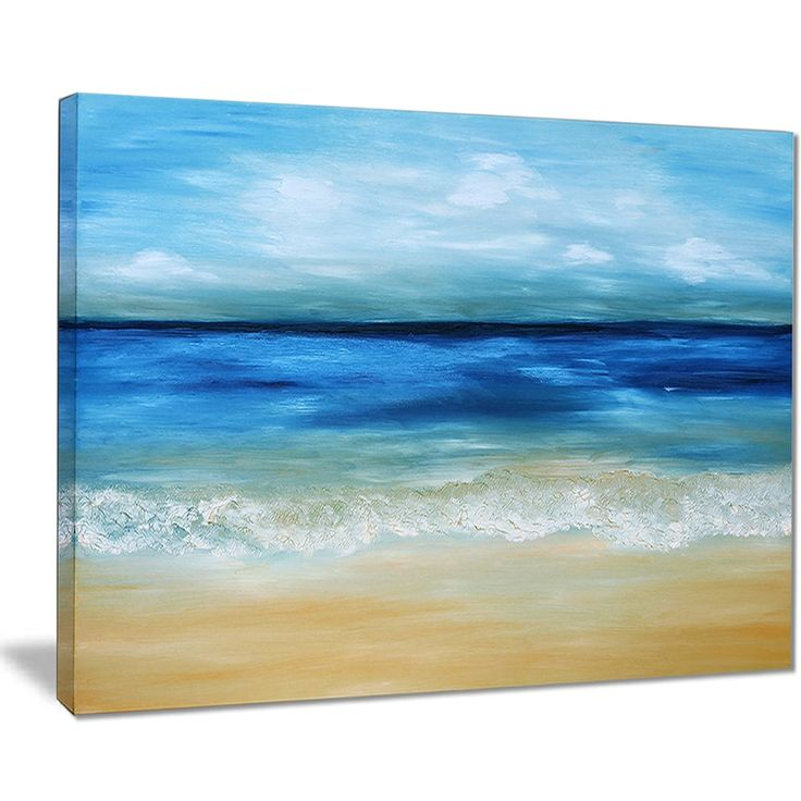 Designart 'Warm Tropical Sea and Beach' Seascape Painting Canvas Print | Overstock.com Shopping - The Best Deals on Gallery Wrapped Canvas