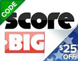 NEW CUSTOMERS!  Enjoy a memorable evening of entertainment for less with this ScoreBig.com Coupon and save $25 off your first order of sports, theater or cheap concert tickets! of $100 or more!  Book online by Monday, August 29th to be eligible for this deal on discount concert tickets.