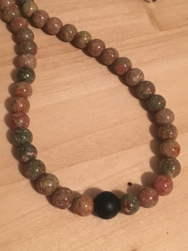 A personal favourite from my Etsy shop https://www.etsy.com/uk/listing/494394568/mens-necklace-of-picture-jasper-with-a
