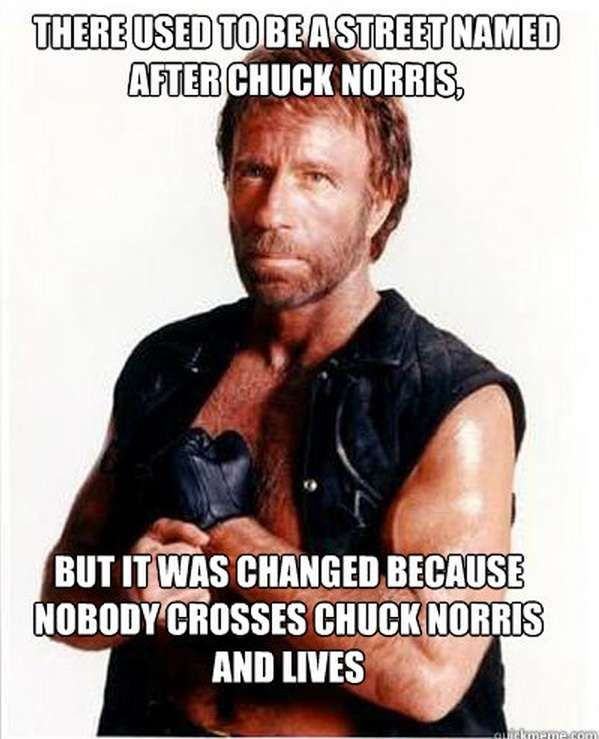 no one crosses Chuck Norris  #RePin by AT Social Media Marketing - Pinterest Marketing Specialists ATSocialMedia.co.uk