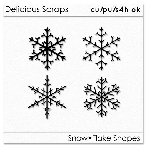 Delicious Scraps: New Free CU SnowFlake Shapes and PNGs